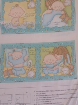 Baby Story Book Panel 'Sleepy Time' - Sweet Pea Collection