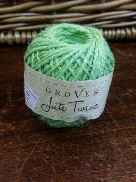 Limey Green Jute Twine 27m Roll
