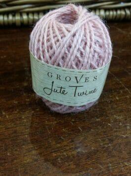 Sugary Pink Jute Twine