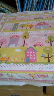 Baby Quilt or Large Play Mat Kit - Pink + Lime