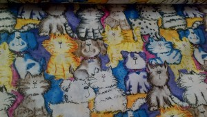 'Quizzical' Cats & Dogs Fabric