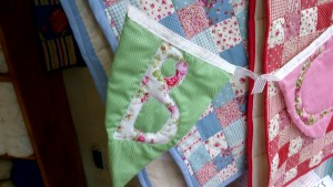 Vintage Style Quilted Bunting