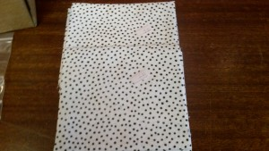 Contemporary Black & White Spot Fabric