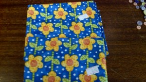 Contemporary Blue + Yellow Sunflower Fabric