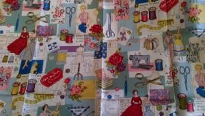 Wonderfully Vintage 'Dressmaking' Fabric