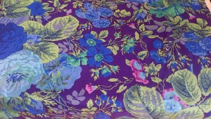 Stunning Blues Floral Fabric, Rowan Petunias Fat Quarter