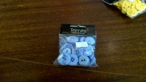 Trimits Craft Buttons Sunshine Baby Blue