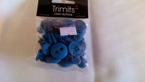 Trimits Craft Buttons Blue