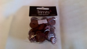 Trimits Craft Buttons Dark Brown