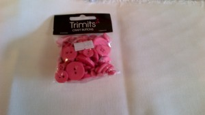 Trimits Craft Buttons Hot Pink