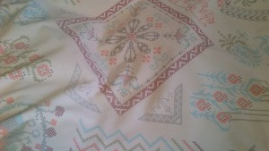 Cross Stitch Quilt Fabric