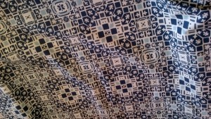 Geometric Blues Quilt fabric