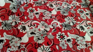 Eye-Catching Red + Black Floral Fabric
