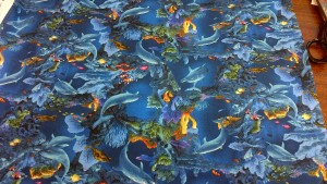 'Enchanted Waters': Under the Sea with Dolphins, Fabric