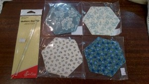 "Quilting for Beginners: 5"" Machine Cut Hexagon Kit"