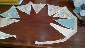 Wedding Bunting, LGBT 'Mr & Mr' Vintage Style Cottons, 2.75m long