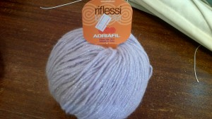 Adriafil Riflessi Wool 50g Ball, Aran weight Lilac