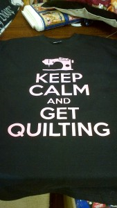 Keep Calm & Get Quilting T Shirt, Black