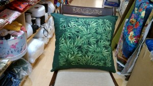 Large Ganja Fabric Cushion