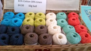 Cotton & Linen Yarn 50g ball Italian - Soft Jade