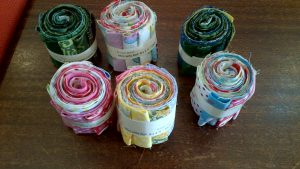 Mini Fabric Jelly Rolls - Assorted Colours