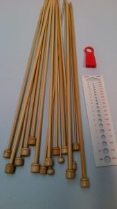 Bamboo Knitting Needle Set 10 Piece