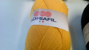 Classic Double Knit Wool Large 200g Adriafil Top Ball Yellow