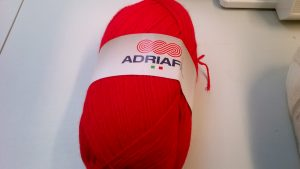 Classic Double Knit Wool Large 200g Adriafil Top Ball Red