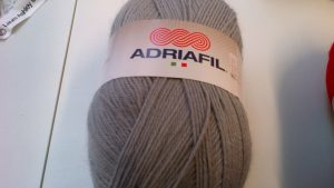 Classic Double Knit Wool Large 200g Adriafil Top Ball Light Grey