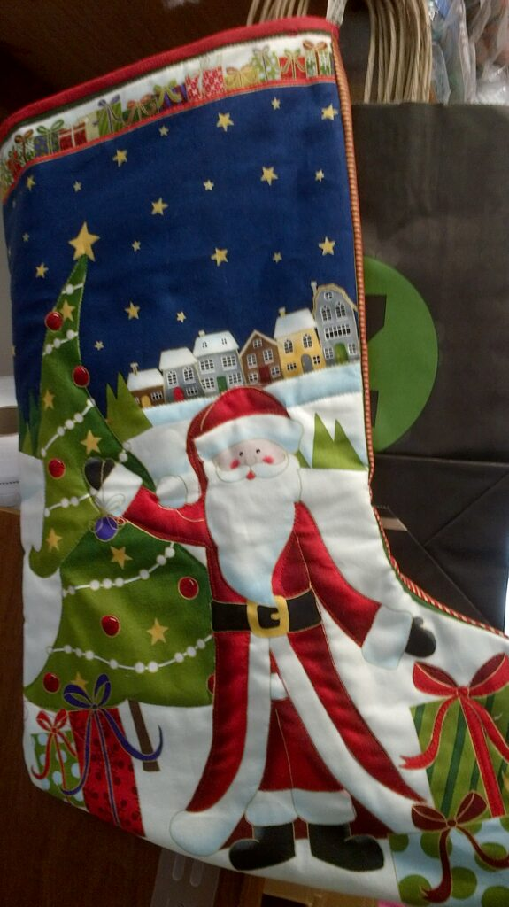 One Quilted Christmas Stocking, Large