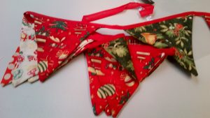 Soft & Festive Christmas Bunting 7ft long, 11 flags
