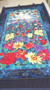 Quilt Panel Kit, Arts & Crafts Style, Spring Flowers 'Tiffany'