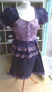 African Fashion Skirt Suit Purple/Lilac Bust 38 - 40""