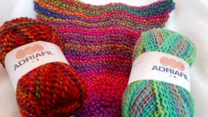 Adriafil Self-Striping Wool Yarn Pintau, Aran Weight, Red Mix