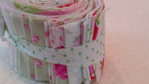 Large Jelly Roll 1m Pure Quilt Cotton Shabby Chic Design