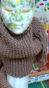Chunky Scarf Knitting Kit + Wool, Pattern + Needles
